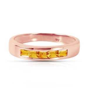 14K. SOLID GOLD RINGS WITH NATURAL CITRINES
